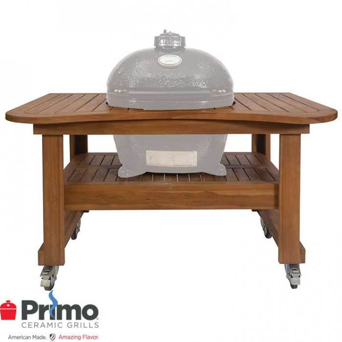 Primo Grills Teak Table for Oval 300 PRM615 Primo Grills Collection