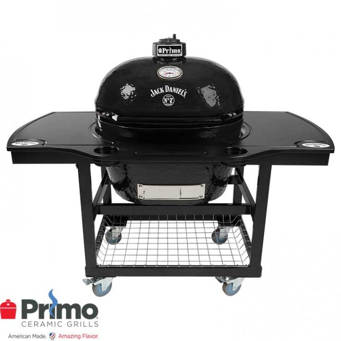 Primo Grill Jack Daniel's Edition Oval XL 400 & JD Edition 1 Piece Island Top Combo PRM900 / PRM910 / PRM368