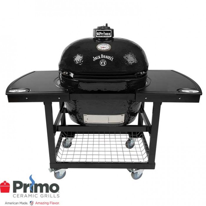 Primo Grill Jack Daniel's Edition Oval XL 400 & JD Edition 2 Piece Island Top Combo PRM900 / PRM911 / PRM368 Primo Grills Collection