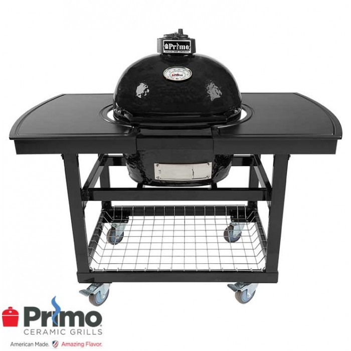 Primo Grills Oval JR 200 & Two Piece Island Top Combination PRM774 / PRM317 / PRM318 Primo Grills Collection