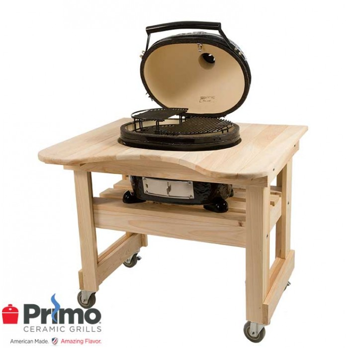 Primo Grills Oval JR 200 & Cypress Table Combination PRM774 / PRM605