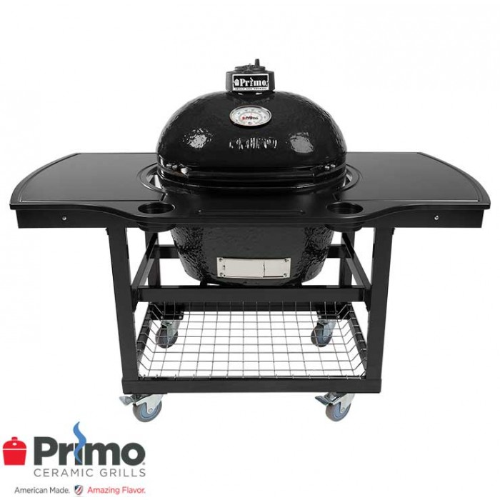 Primo Grill Oval LG 300 & One Piece Island Top Combo PRM775 / PRM329 / PRM368