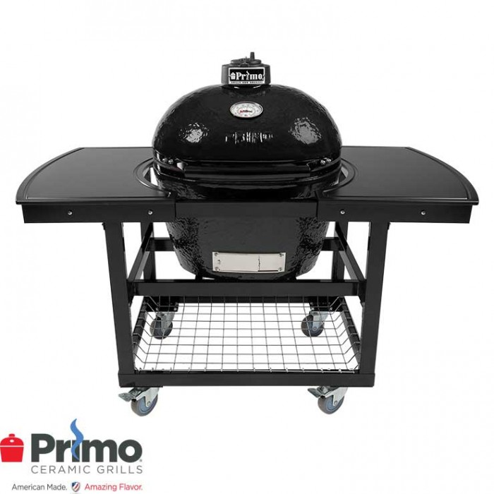 Primo Grill Oval LG 300 & Two Piece Island Top Combo PRM775 / PRM311 / PRM368