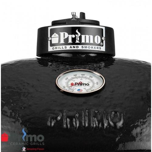 primo grill oval lg 300 u0026 teak table combination prm775 prm615 - Primo Grills