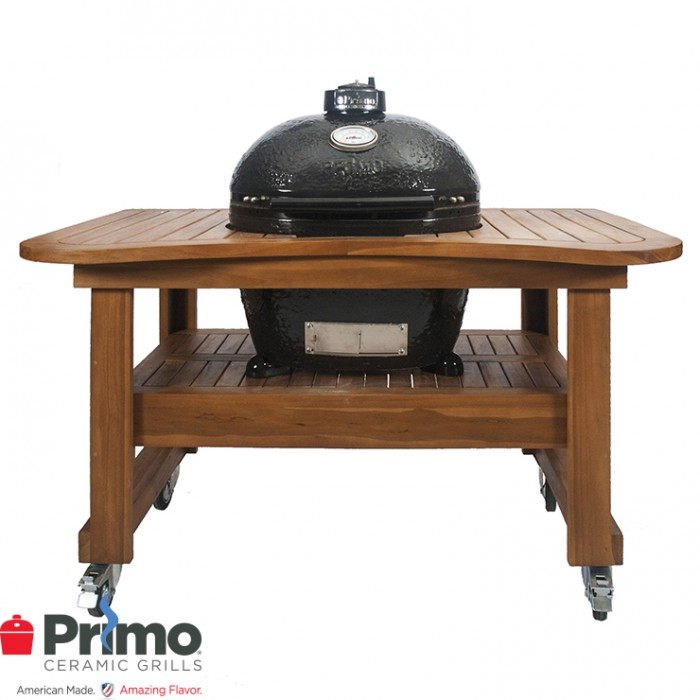 Primo Grill Oval LG 300 & Teak Table Combination PRM775 / PRM615