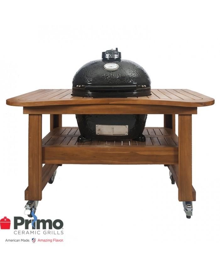 Primo Grill Oval LG 300 & Teak Table Combination PRM775 / PRM615