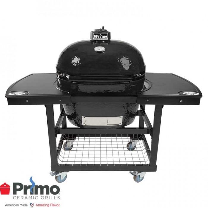 Primo Oval XL 400 & Jack Daniel's Edition 2 Piece Island Top Combo PRM778 / PRM911 / PRM368 Primo Grills Collection