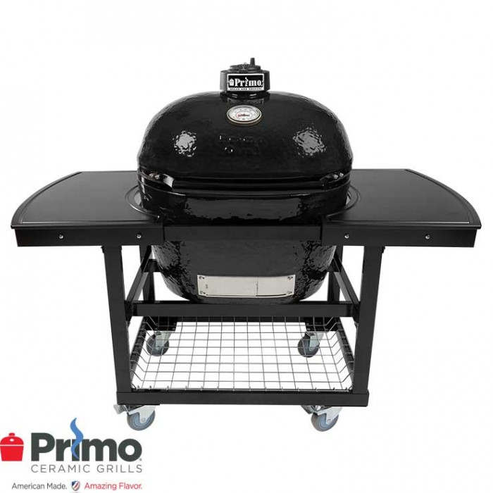 Primo Grill Oval XL 400 & Two Piece Island Top Combination PRM778 / PRM311 / PRM368