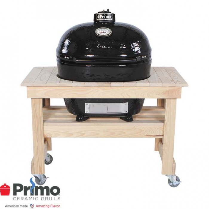 Primo Grill Oval XL 400 & Cypress Table Compact Combo PRM778 / PRM602 Primo Grills Collection
