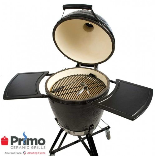 primo grill kamado allinone grill u0026 cart with shelves prm773 - Primo Grills