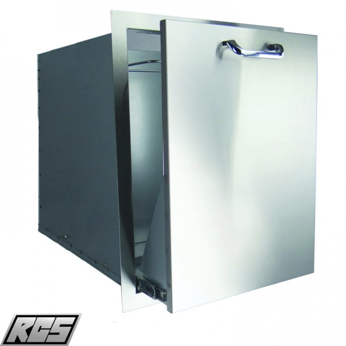 RCS Stainless Double Trash Drawer - RTD2 RCS Grill Collection