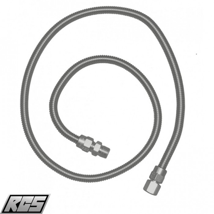 "RCS Stainless Steel 48"" Flex Hose - SSFLEX6448 RCS Grill Collection"