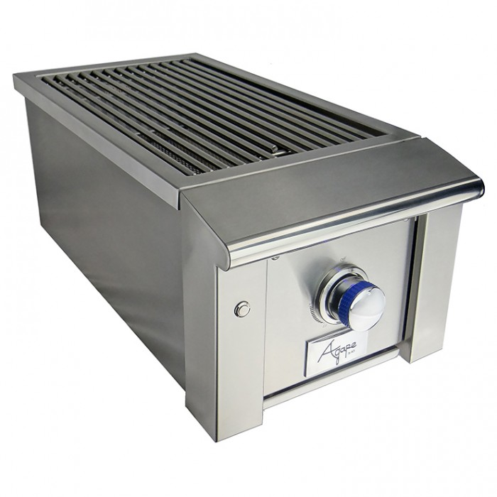 RCS Agape Stainless Infra Red Side Burner With Blue LED Lights - ASB2 BBQ GRILLS