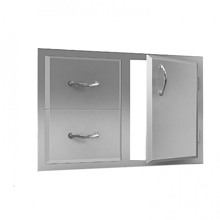 RCS Agape Stainless Enclosed Double Drawer & Door Combo - ADC1