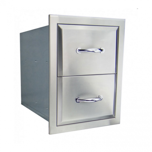 RCS Agape Stainless Fully Enclosed Double Drawer - ADR1 RCS Grill Collection