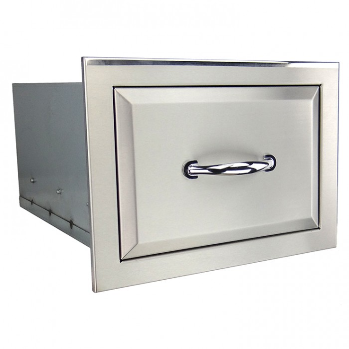RCS Agape Stainless Fully Enclosed Single Drawer - ASR1 BBQ GRILLS