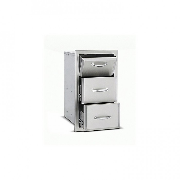 RCS Agape Stainless Fully Enclosed Paper Towel Holder/2 Drawer Combo - ATHC1