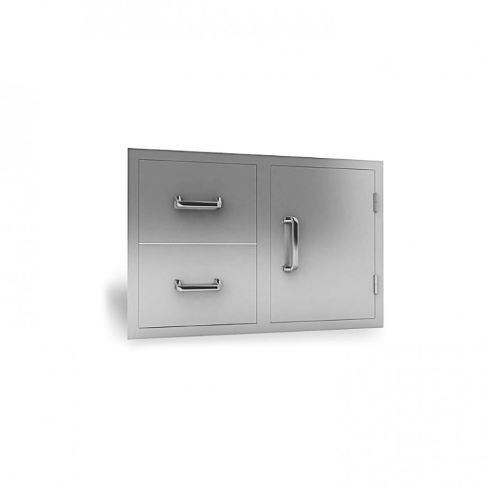 RCS Stainless Enclosed Double Drawer & Door Combo - RDC1 RCS Grill Collection