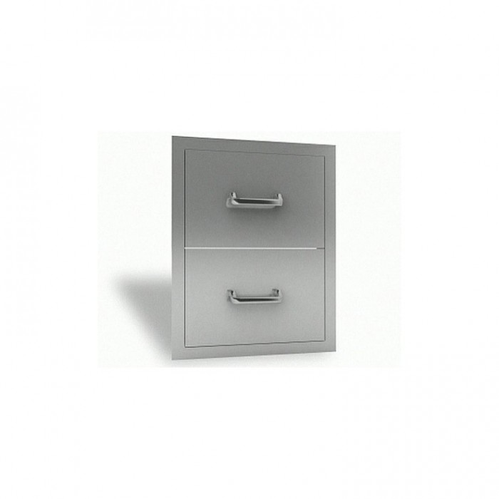 RCS Stainless Enclosed Double Drawer - RDR1 RCS Grill Collection