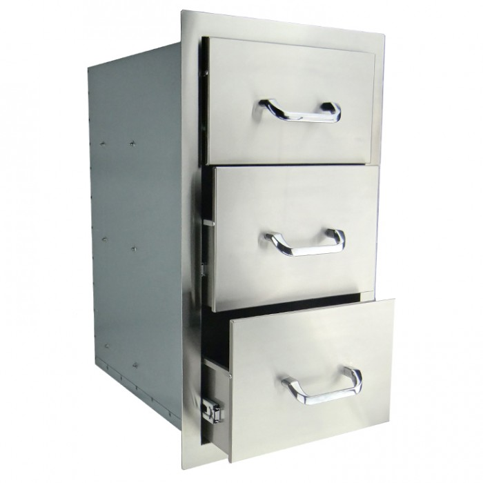 RCS Stainless Triple Drawer - RTD3