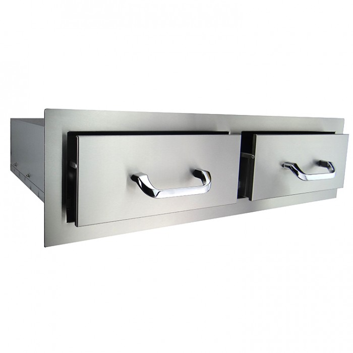RCS Stainless Enclosed Horizontal Double Drawer - RHR2