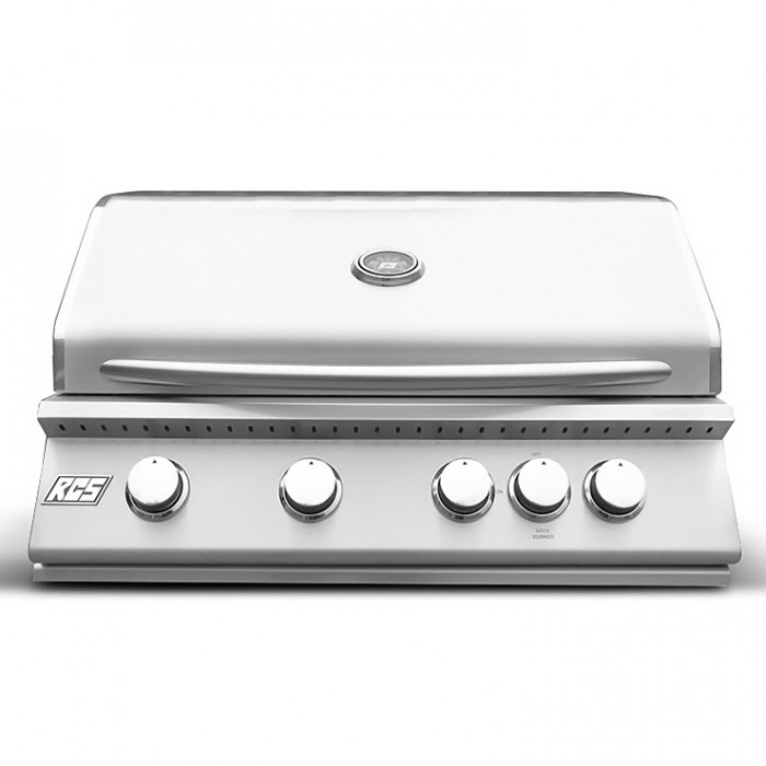 "RCS Premier Series 32"" Stainless Built-In Grill With Rear Burner - RJC32a RCS Grill Collection"