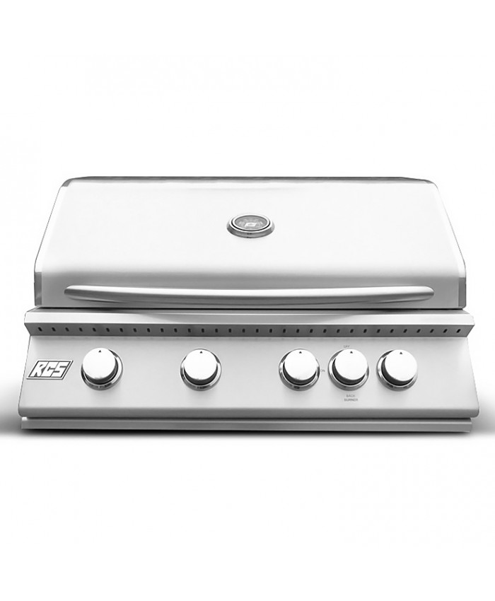 "RCS Premier Series 32"" Stainless Built-In Grill With Rear Burner - RJC32a"