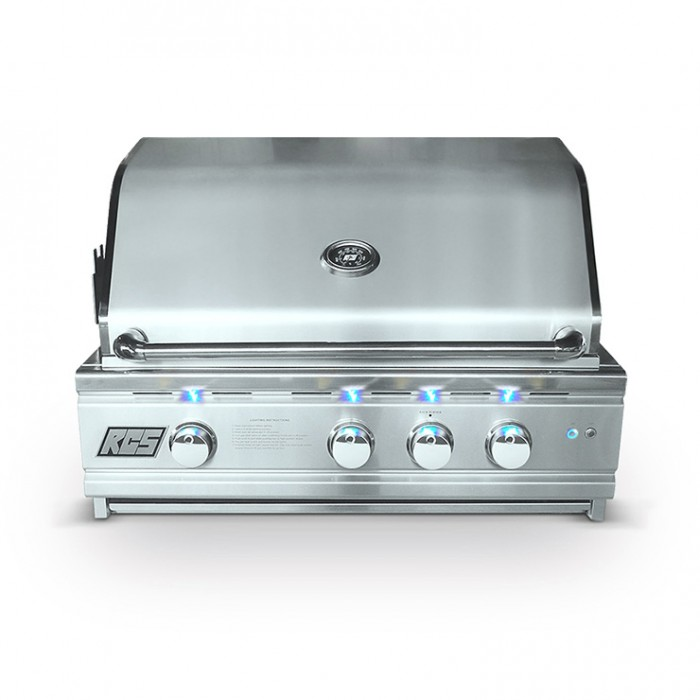 "RCS 30"" Cutlass Pro Series Built-In Grill, Blue LED W/Rear Burner - RON30a BBQ GRILLS"