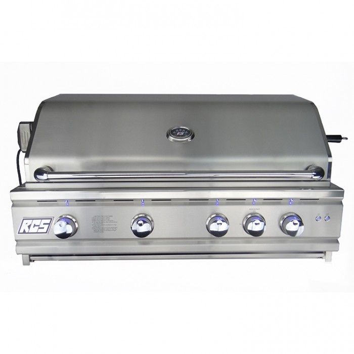 "RCS 38"" Cutlass Pro Series Built-In Grill, Blue LED W/Rear Burner - RON38a BBQ GRILLS"
