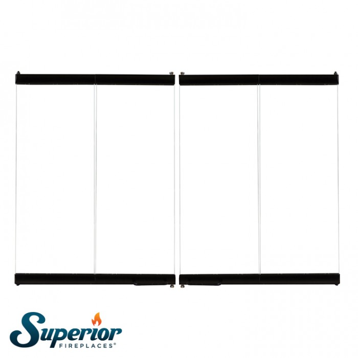 "Superior 36"" Outdoor Bi-Fold Glass Door, Black Finish - BDO36"