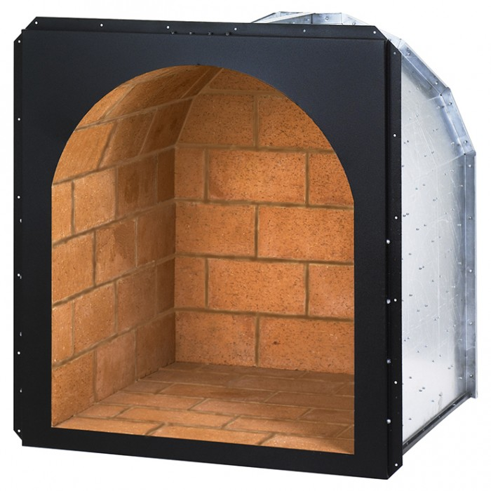 "Superior 24"" Arched Wood Nook, Ivory Brick - DHR-24I Outdoor Wood Burning Fireplaces"