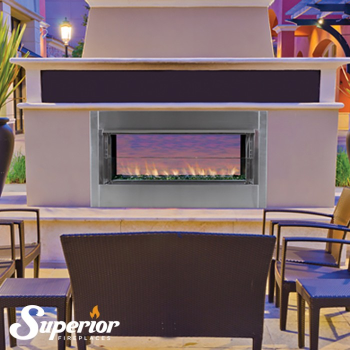 "Superior 43"" Linear Outdoor Vent Free Fireplace - VRE4543EN"
