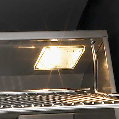 Fire Magic Aurora Grill Halogen Light Close Up