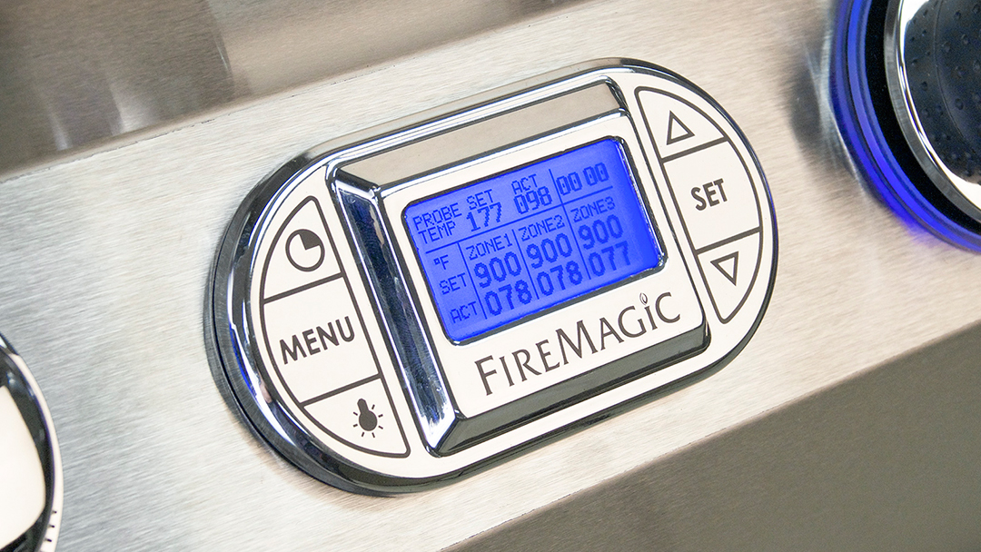 Fire Magic Grills - Multi Colored Backlit Thermometer