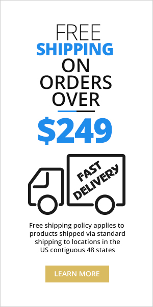 free shipping on orders over $249